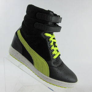 Puma Sky Wedge High Top Sneaker Boot Hidden Heel